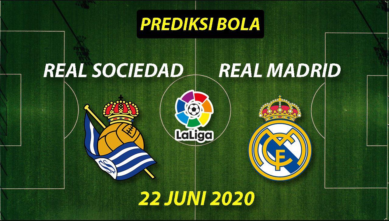 Photo of Prediksi Bola Real Sociedad vs Real Madrid 22 Juni 2020 La Liga