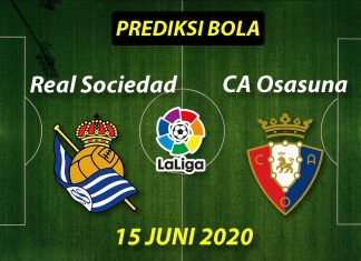 Prediksi Bola Real Sociedad vs Osasuna 15 Juni 2020 La Liga