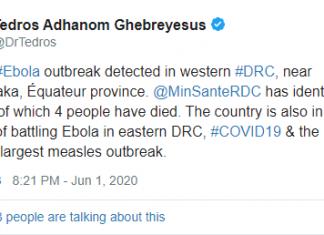 DrTedros membuat Tweet tentang Virus Ebola
