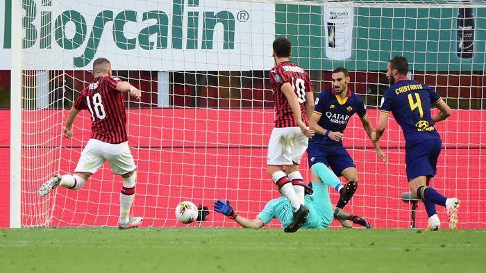 Milan vs Roma Serie A Italia