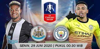 Prediksi Bola Newcastle United vs Manchester City 29 Juni 2020 Piala FA