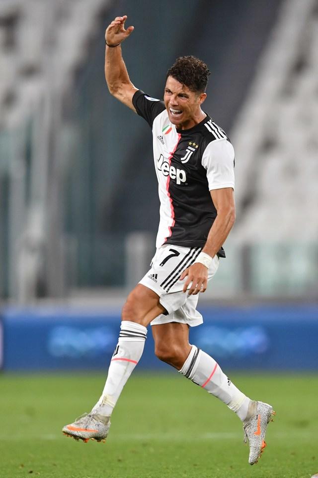 Juventus vs Sampdoria, Cristian Ronaldo On Fire