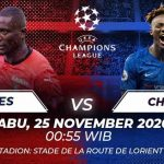 Prediksi Bola Rennes vs Chelsea, Liga Champions 25 November 2020, Pertarungan Sengit Demi Tiket Babak 16 Besar