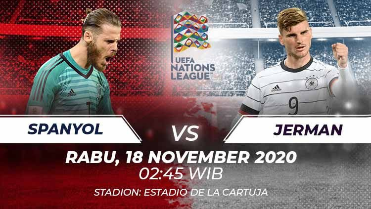 Prediksi Bola Spanyol vs Jerman, UEFA Nations League 18 November 2020