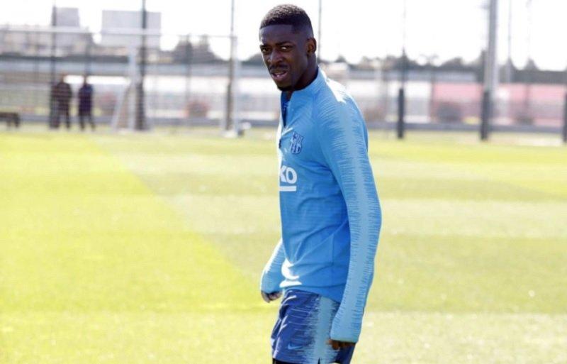 Pulih Lebih Cepat, Dembele Kembali Latihan Bersama Barcelona 6